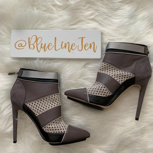GX Gwen Stefani Cargo Pointy Toe Ankle Boots